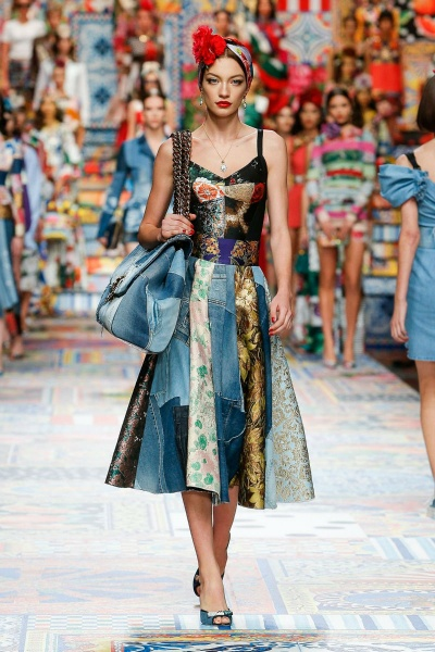 Carolina Bruma show Dolce and Gabbana Milan Fashion Week SS2021