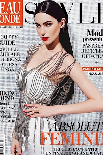 Raluca Bidian cover and editorial Beau Monde August 2014