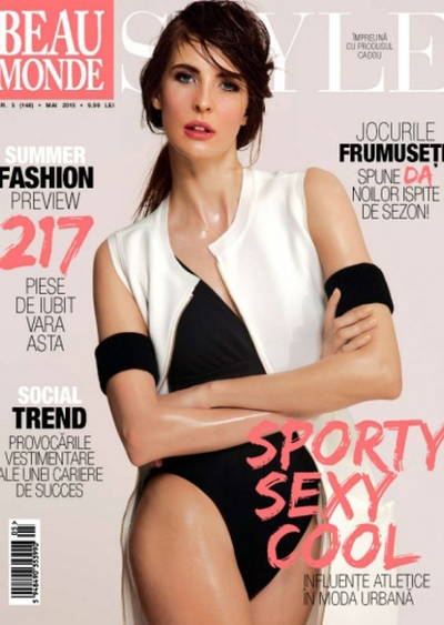 Anca Tiribeja cover Beau Monde May 2015