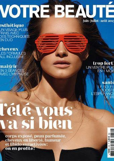 Cornelia Tat cover Votre Beaute France June - August 2015